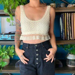 LA Hearts cream cotton and rayon lace bralette XS